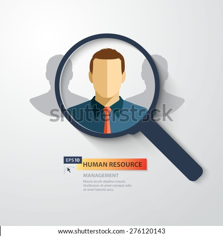 Vector concept for human resource management. Choosing the right person - stock vector