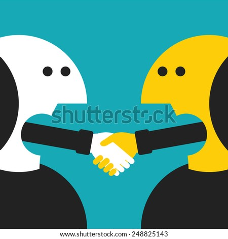 Vector concept of agreement in flat cartoon style - stock vector