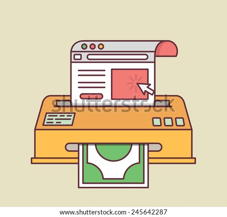 Vector concept of conversion rate optimization - vector illustration - stock vector