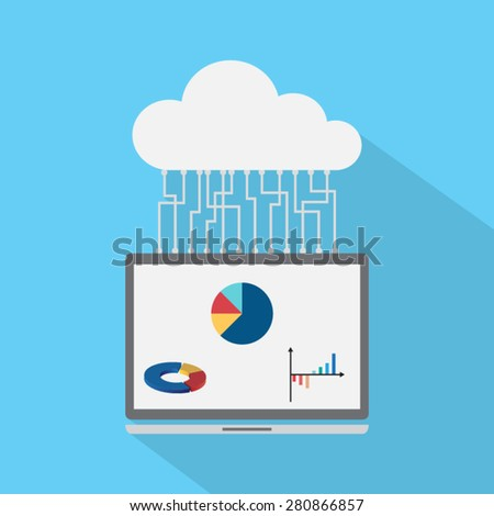 Vector concept of search engine - stock vector