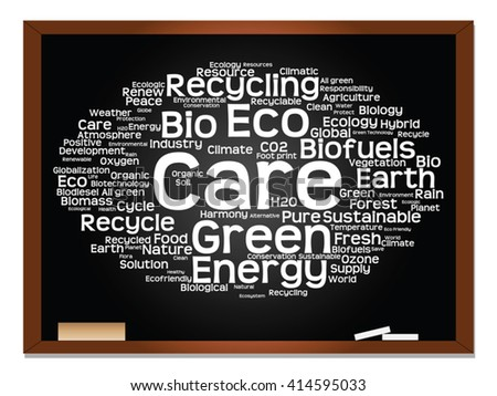 Vector concept or conceptual abstract word cloud on blackboard background as metaphor for business, trend, media, focus, market, value, product, advertising or customer. Also for corporate wordcloud - stock vector