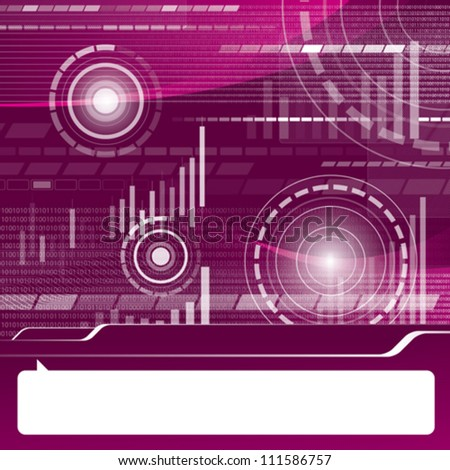 Vector conceptual business virtual background with charts - stock vector