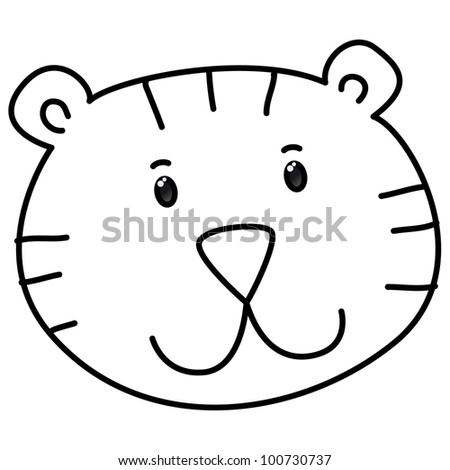 tiger head coloring page - baby outline stock photos images pictures shutterstock