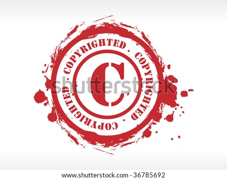Vector copyright rubber stamp - stock vector
