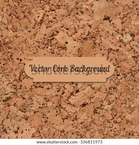 Vector cork board texture. Element for your designs, promotional sales and other your projects. Just add your text - stock vector