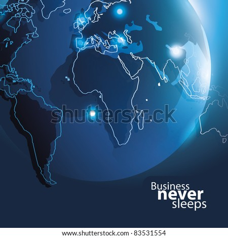 Vector Corporate Background with Earth - stock vector