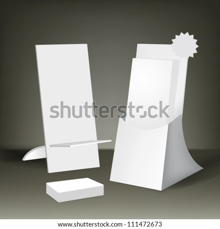 Vector corporate Brochure holder - stock vector