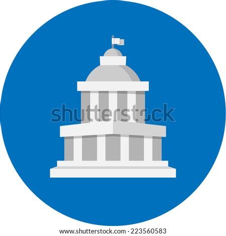 Vector Court Building  - stock vector