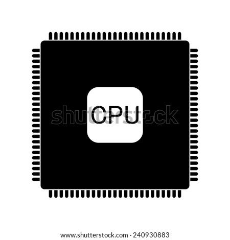 Vector CPU icon - stock vector