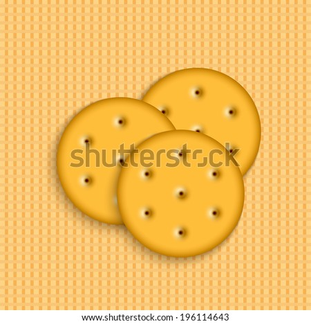 Vector crackers on striped background. Eps 10 - stock vector