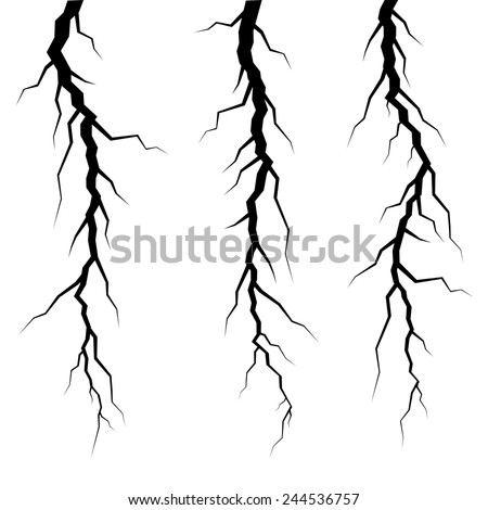 vector cracks in ice or wall  - stock vector