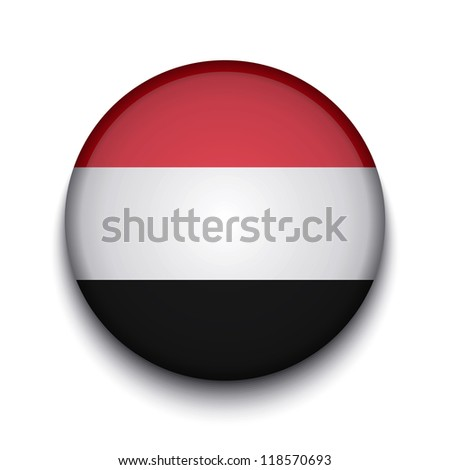 Vector creative circle flag on white background. Eps10 - stock vector