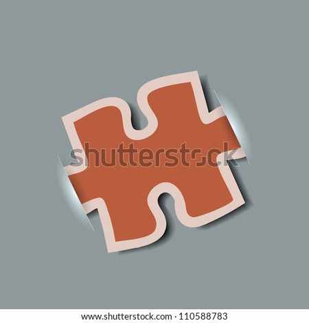Vector creative computer puzzle background. Eps10 - stock vector