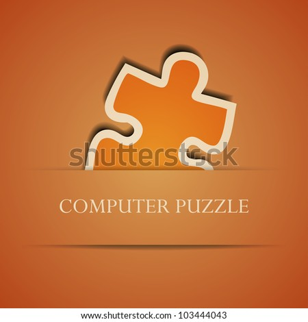 Vector creative computer puzzle background. Eps10 illustration - stock vector