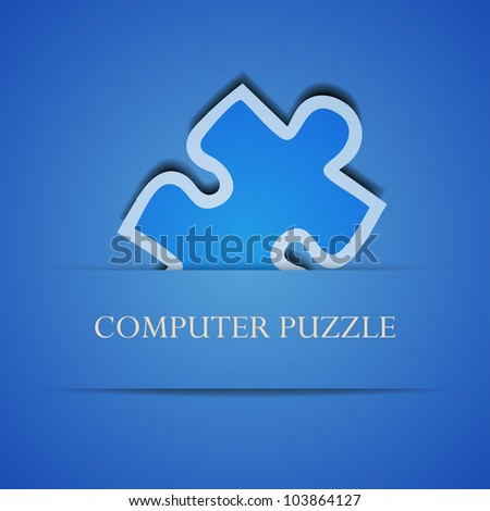 Vector creative computer puzzle background. Eps 10 illustration - stock vector