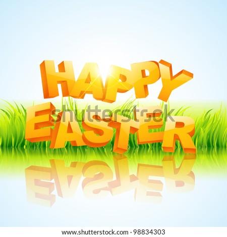 vector creative happy easter illustration - stock vector