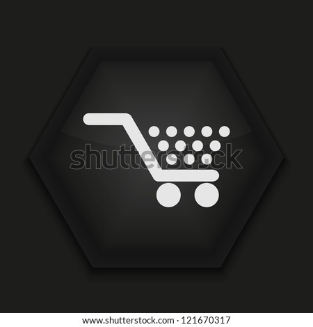 Vector creative icon on black background. Eps10 - stock vector