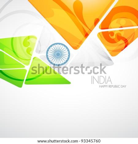 vector creative indian flag design - stock vector