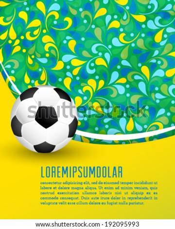 Vector creative soccer brochure design. - stock vector