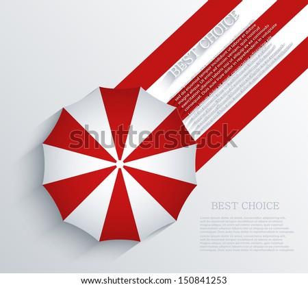 Vector creative umbrella background. Eps10 - stock vector