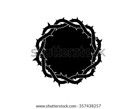 Vector crown of thorns - stock vector