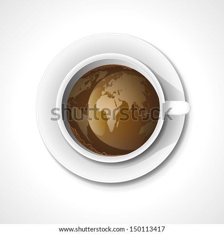 Vector. Cup of coffee. - stock vector