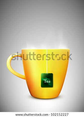 vector cup of tea illustration - stock vector