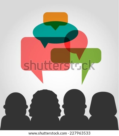 vector customer testimonials concept illustration - stock vector