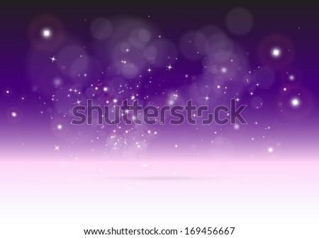 Vector 3D abstract purple scene  background -  Shiny vector  creative dreamy illustration  - stock vector
