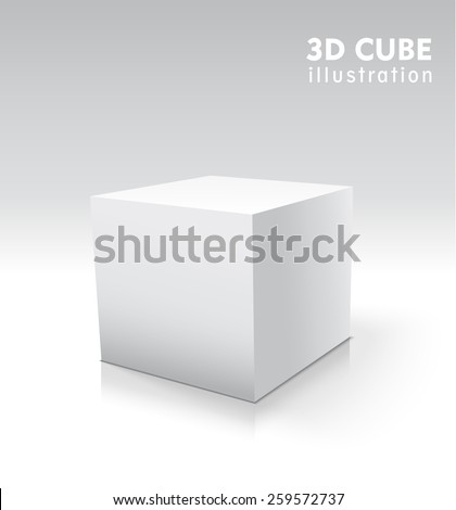 Vector 3d cube for your graphic design. - stock vector