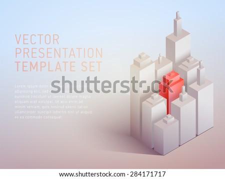 vector 3d empty template  - stock vector