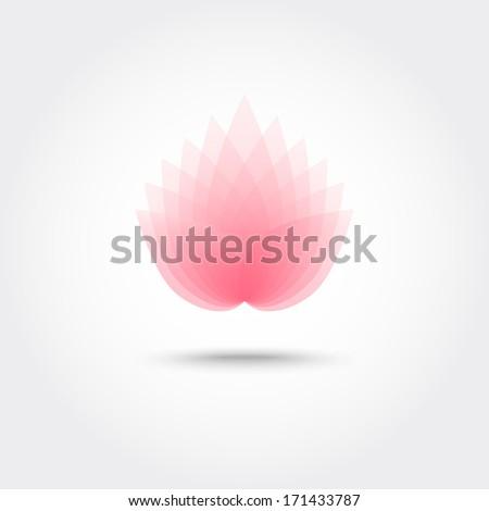 Vector 3d flower, eps10 - stock vector
