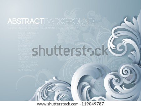 Vector 3d frame ornament, with space for calligraphic elements - stock vector