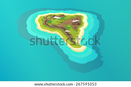 vector 3d illustration of south america - stock vector