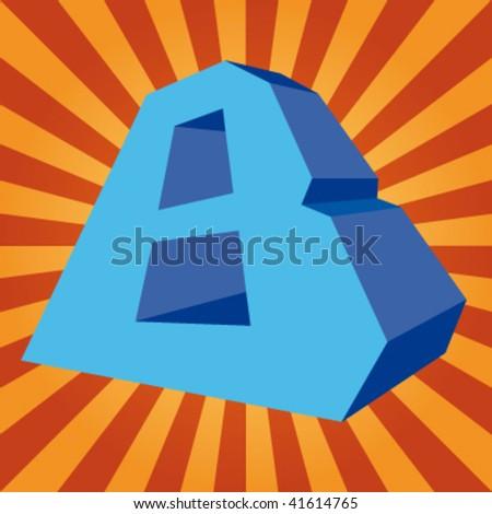 "vector 3d letter ""B"" on disco background - stock vector"