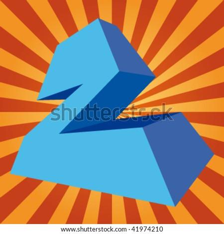 "vector 3d letter ""Z"" on disco background - stock vector"