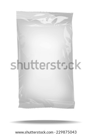 vector 3d package blank template  for design of packing - stock vector