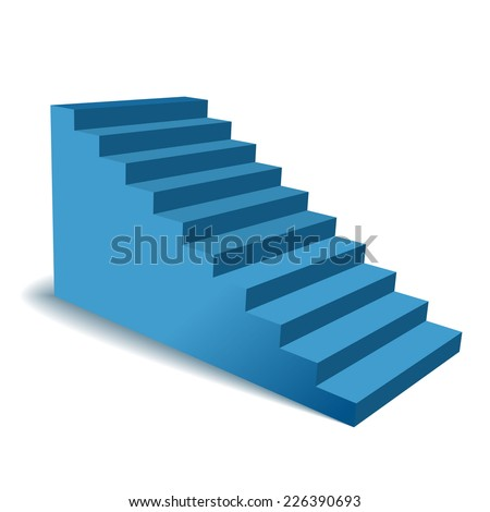 Vector 3d stairs - stock vector