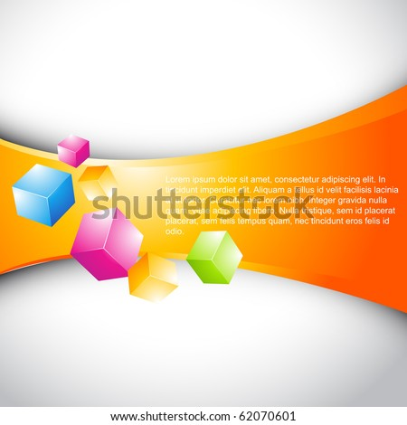 vector 3d stylish colorful cubes background - stock vector