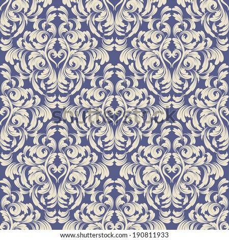 vector damask wallpaper. design elements. flower backdrop - stock vector