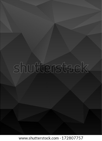 vector dark abstract polygonal background - Separate layers for easy editing - stock vector