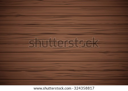 Vector Dark Wood plank texture background. Not tracing. Horizontal backdrop. - stock vector
