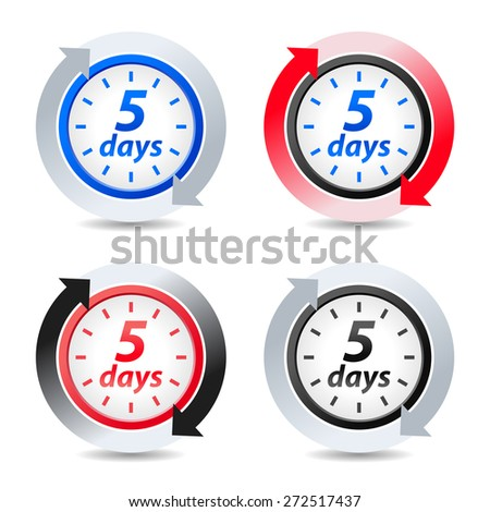 Vector 5 days - stock vector