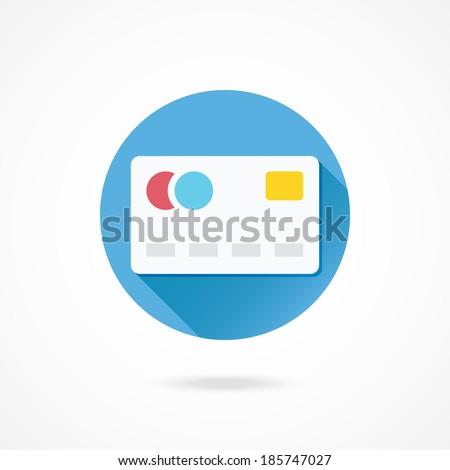 Vector Debit Card Icon - stock vector