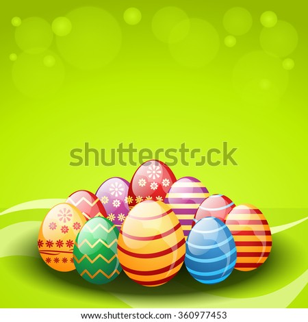 Vector decorated Easter eggs - stock vector