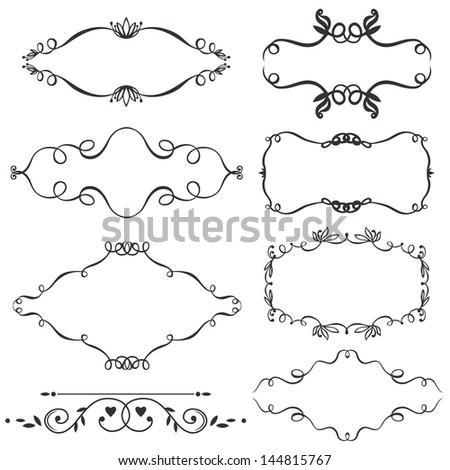 Vector decorative design elements - stock vector
