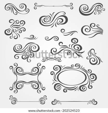 vector decorative elements - stock vector