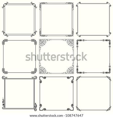Vector decorative frames (set 26) - stock vector