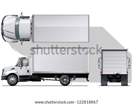 Vector Delivery / Cargo Truck - stock vector