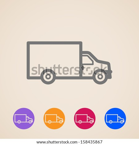 vector delivery truck icons - stock vector